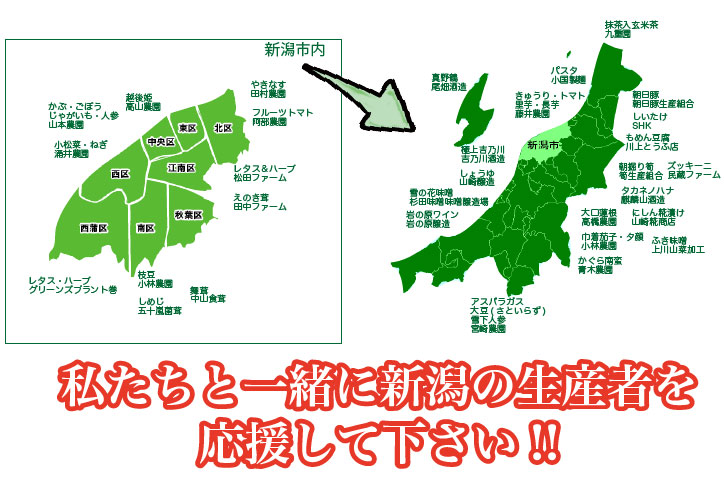 新潟の生産者マップ